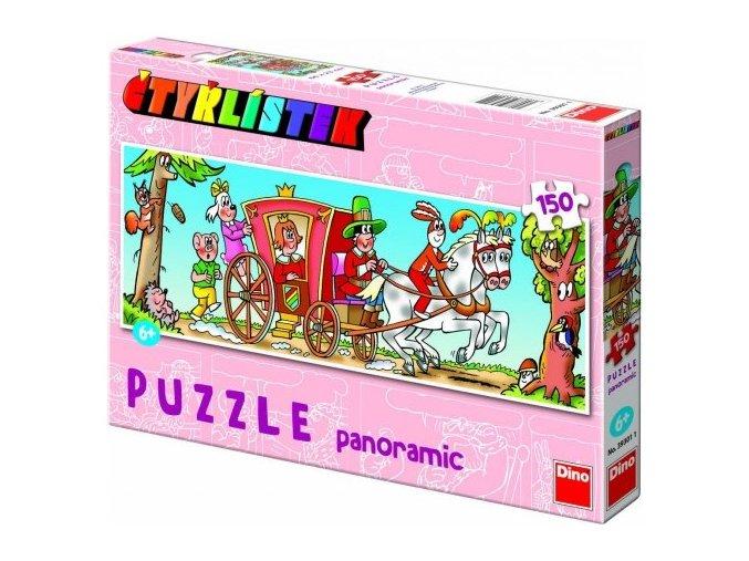Puzzle Čtyřlístek panorama 150 dílků