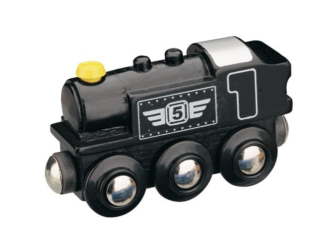Parní lokomotiva - černá - Maxim 50816