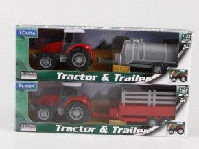 Traktor s přívěsem 1:32
