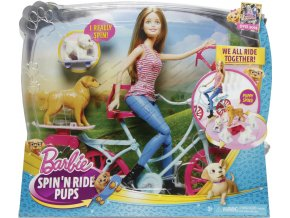 Barbie cyklistka a psí akrobati