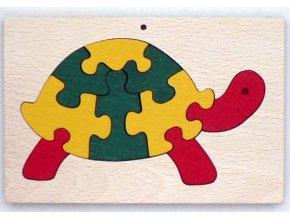 Vkládací puzzle Želva v rámečku