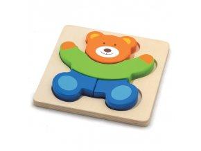 vkládací puzzle Medvěd