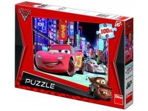 Puzzle 100XL dílků Cars 2: Blesk McQueen v Tokiu