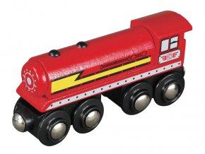 Parní lokomotiva - červená  - Maxim 50502