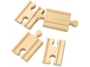 5 cm rovné koleje - spojky - 4 kusy - Maxim 50901