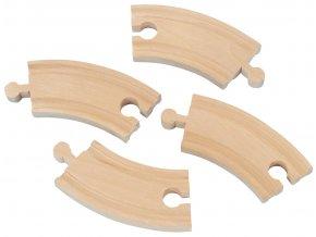 Krátká kruhová kolej průměr 20cm - 4 kusy - Maxim 50906