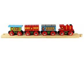 Osobní vlak + 2 koleje - Bigjigs 70421