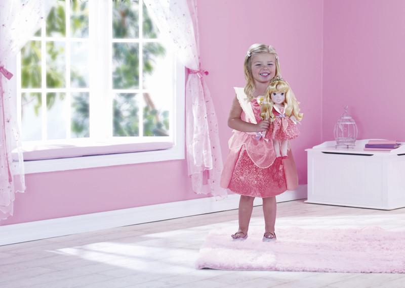 Disney princezna a dětské šaty - Růženka