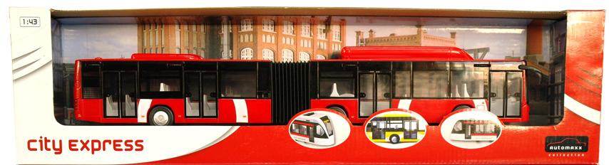 Autobus na setrvačník 1:43 barva: červená