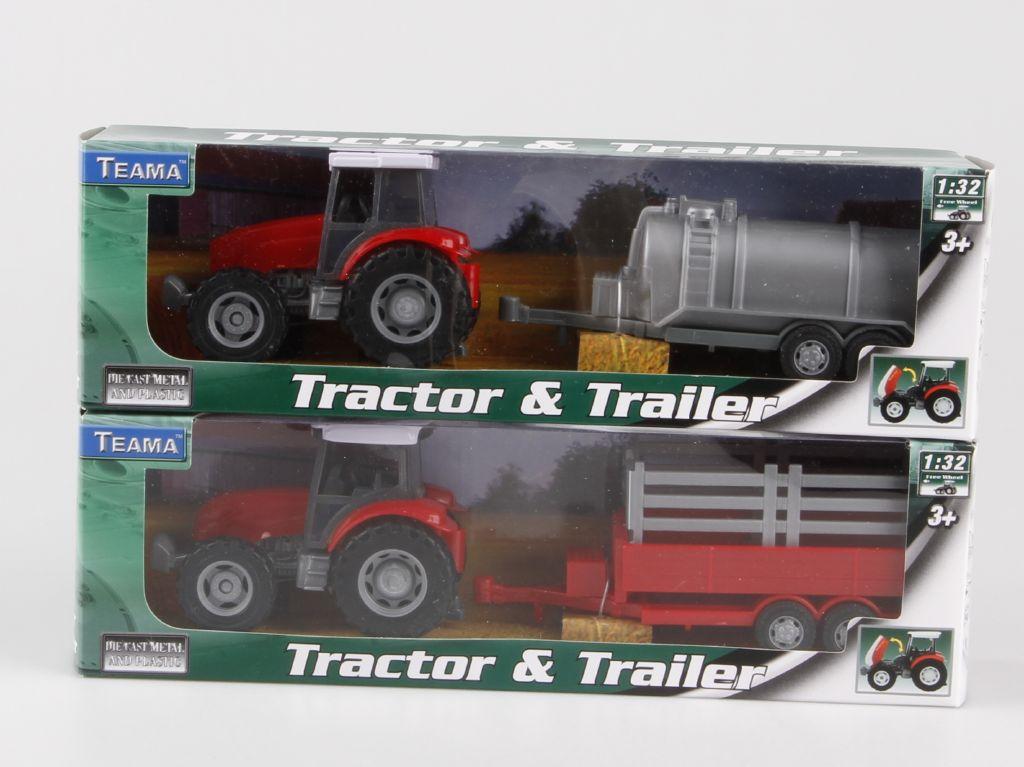 Traktor s přívěsem 1:32 přívěs: přívěs na seno