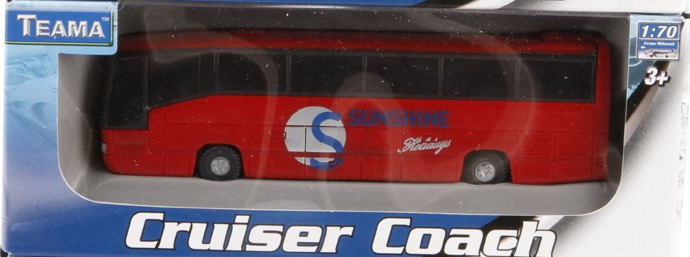 Autobus 1:70 barva: červený