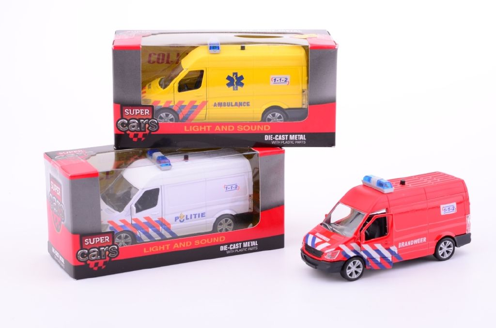 Policie, hasiči, sanitka se světlem a zvukem AUTO: sanitka