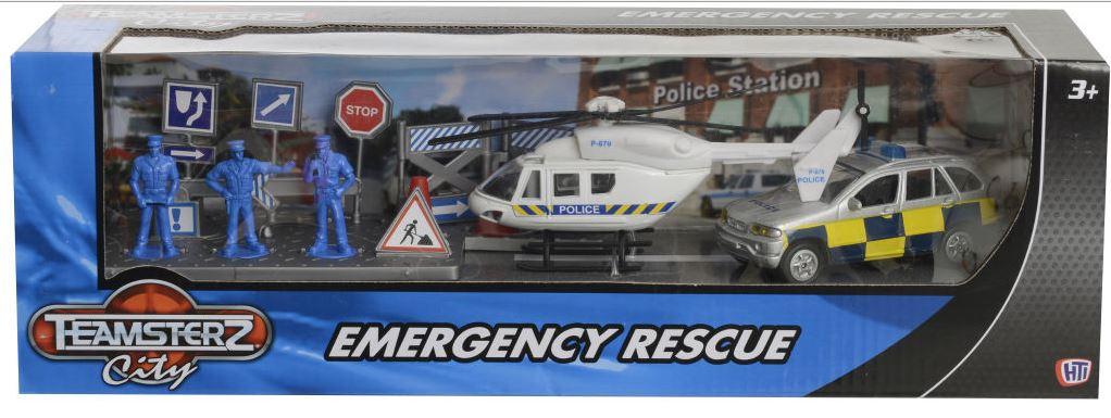 Zachranářské auto - Teamsterz typ záchranářů: policie