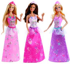 Mattel Barbie Princezna měnitelné prvky princezna: Blondýnka, fialový top, růžová sukně