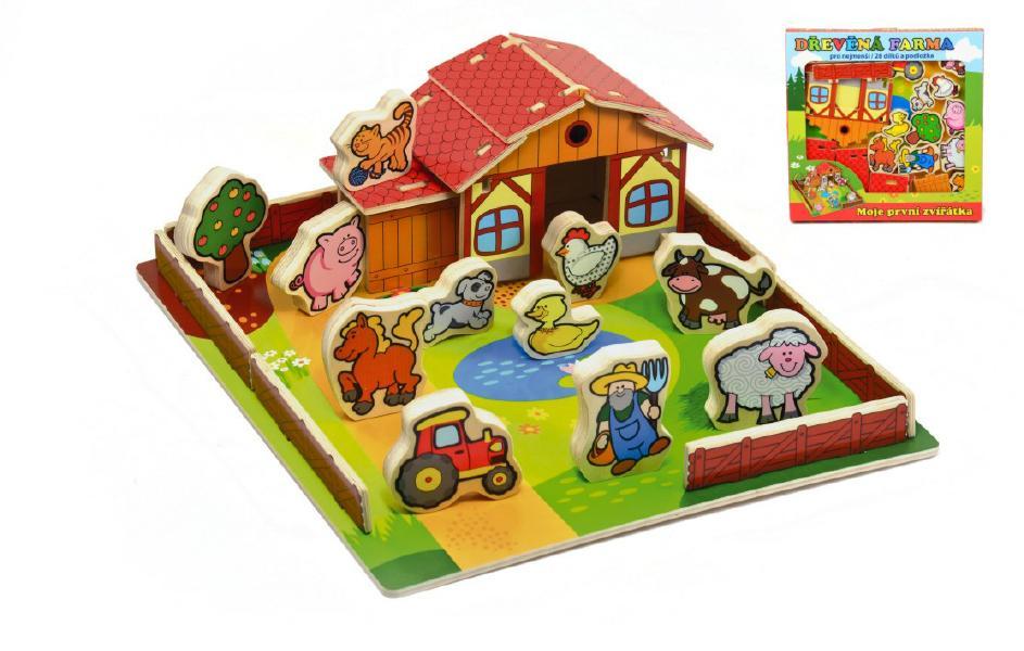 TEDDIES Dřevěná farma Moje první zvířátka