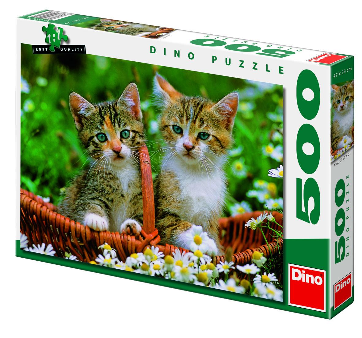 DINO Puzzle dvě koťátka 500 dílků