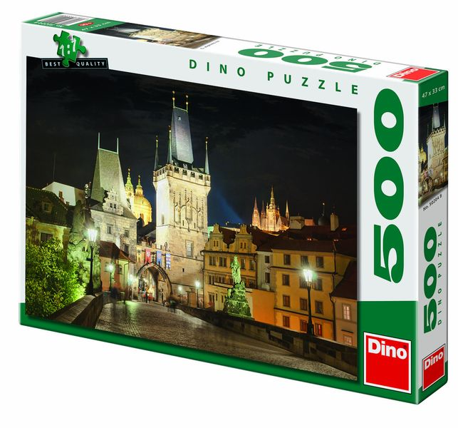 DINO Puzzle Praha v noci 500 dílků