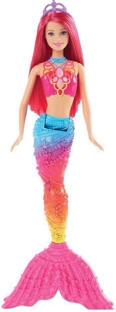 Mattel Barbie mořská panna Barbie mořská panna: růžová