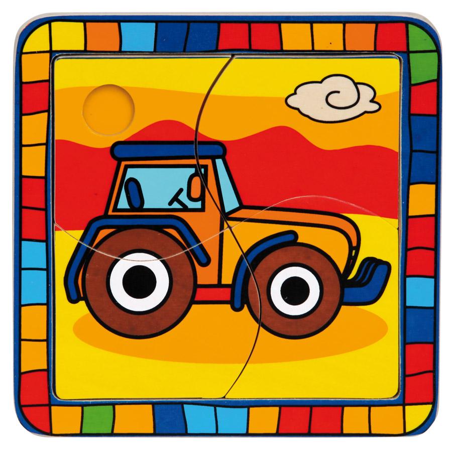 Bino Vkládací puzzle Traktor