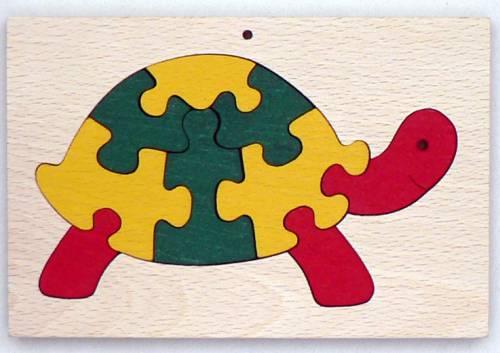 Makovský vkládací puzzle Želva v rámečku