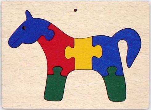Makovský vkládací puzzle Kůň v rámečku
