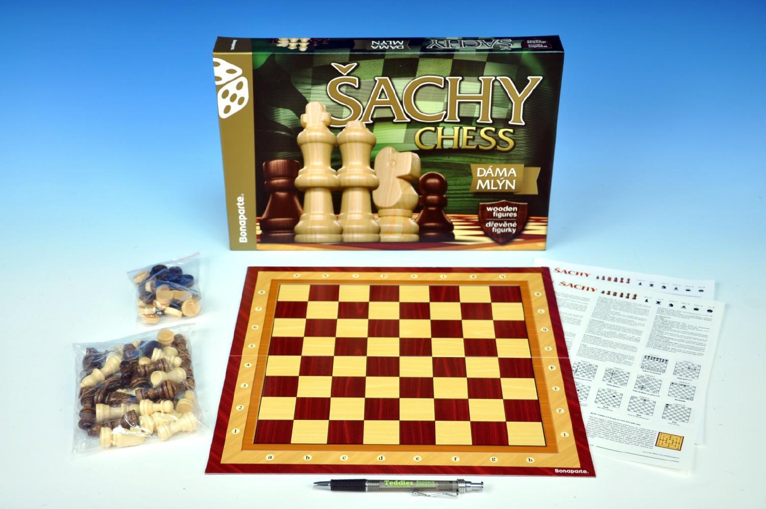 HRY: Šachy, Dáma, Mlýn dřevěné