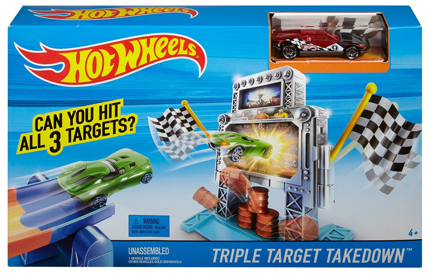 Hot Wheels Triple target takedown