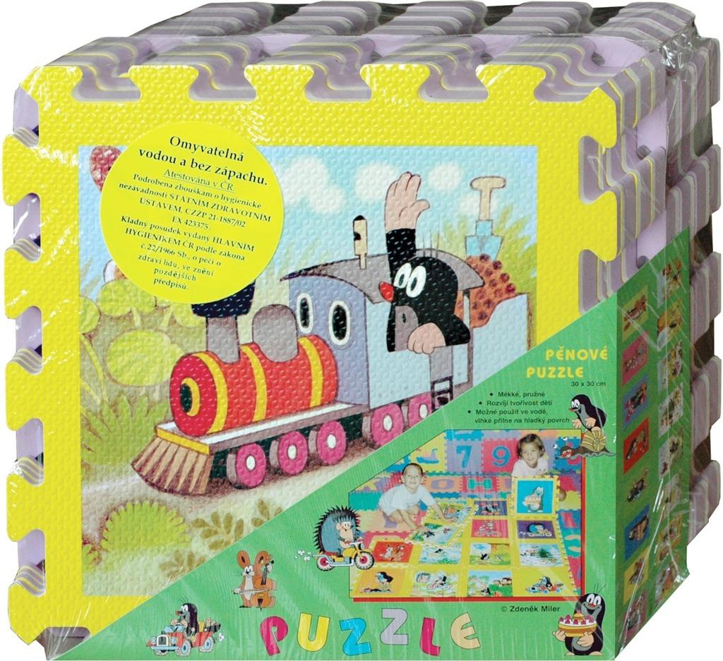 Pěnové puzzle Krtek 30x30 cm, 8ks barva okraje: žlutá