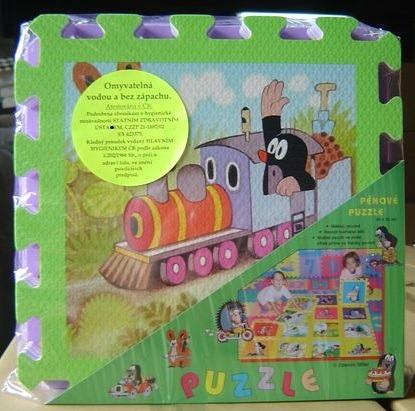 Pěnové puzzle Krtek 30x30 cm, 8ks barva okraje: zelená