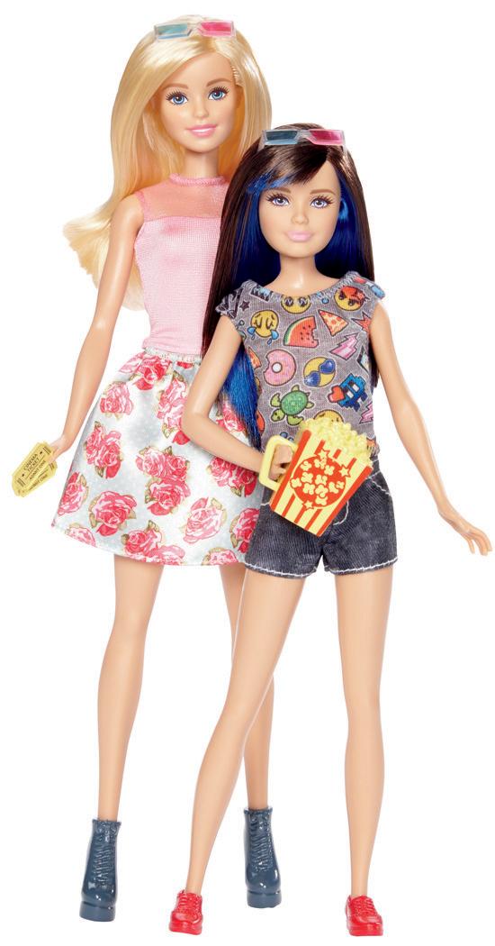 Barbie sestry dvojitý set Sestřičky: Barbie + Skipper