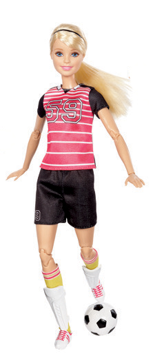 Barbie sportovkyně panenka Barbie: Fotbalistka blond
