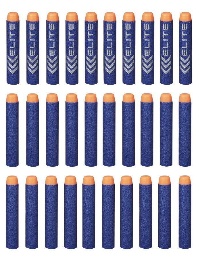 NERF Elite náhradní šipky 30ks barva špičky: oranžová