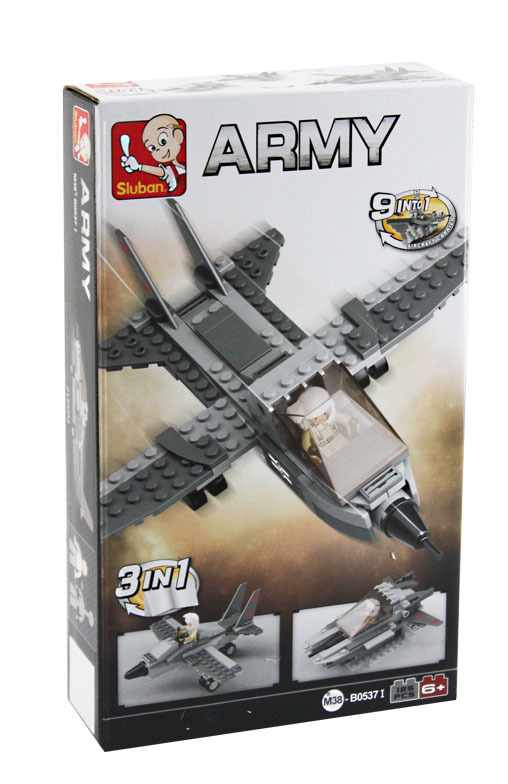 Stavebnice Sluban ARMY 3v1 letadlo