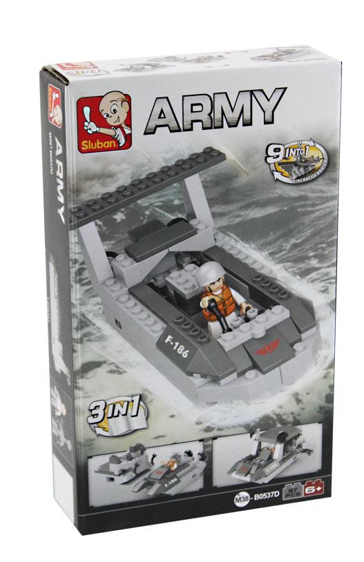 Stavebnice Sluban ARMY 3v1 Výsadkový člun