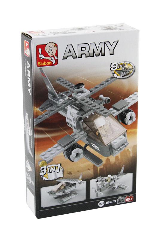 Stavebnice Sluban ARMY 3v1 Vrtulník