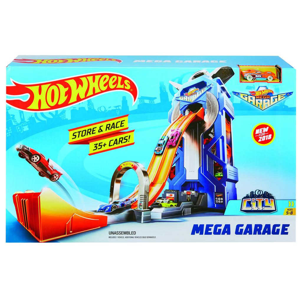 Hot Wheels city garáž se závodní dráhou