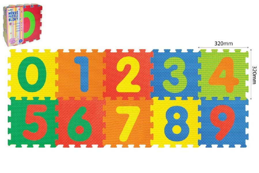 Pěnové puzzle Číslice 30x30cm