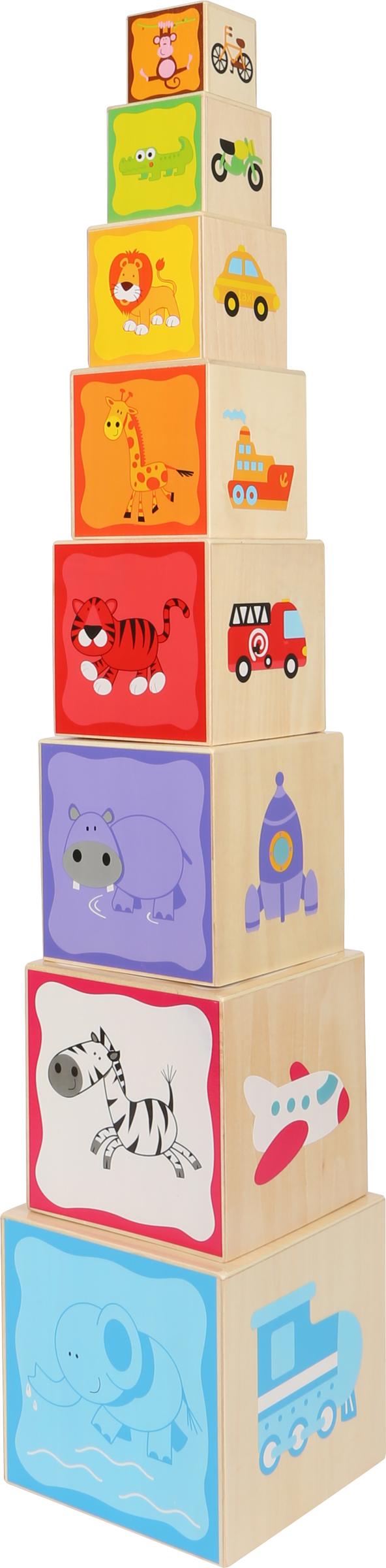 Small foot Dřevěná věž s čísly a obrázky