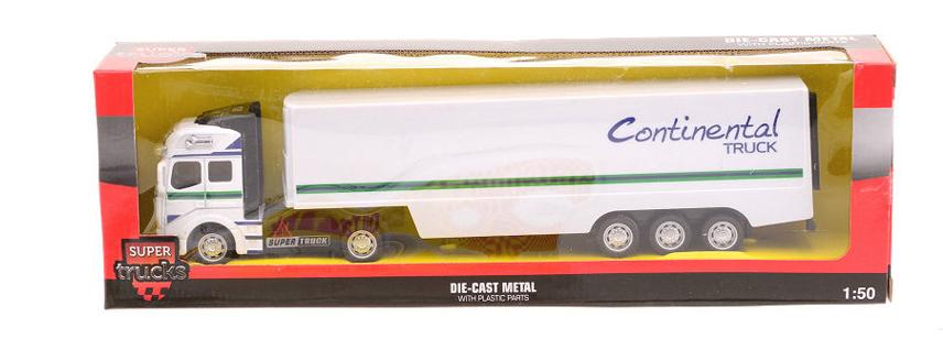 Kovový model kamoinu 1:50 kamion: kamion s návěsem