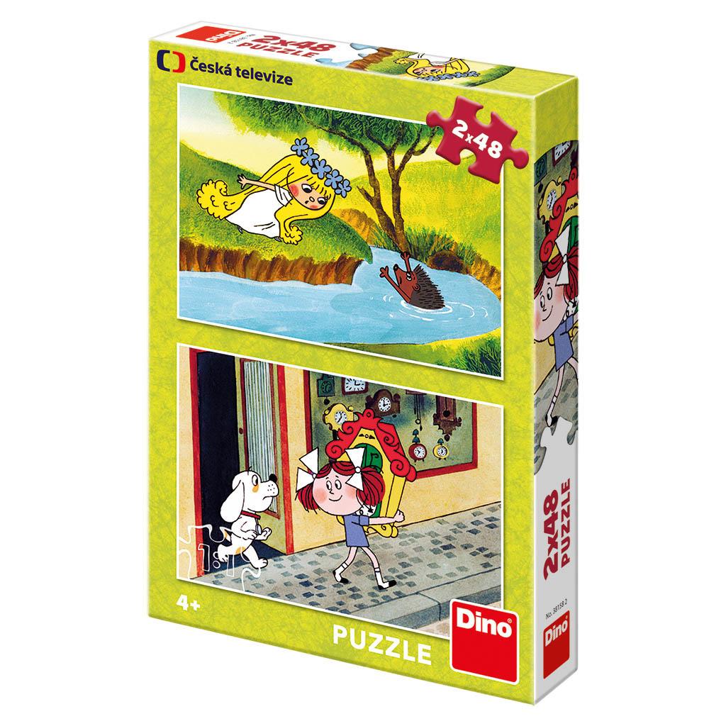 DINO Puzzle 2x48 dílků: Holky z pohádky