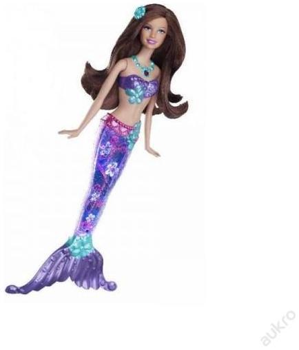 Mattel Barbie Svítící mořská panna Barbie svítící mořská panna: blondýnka