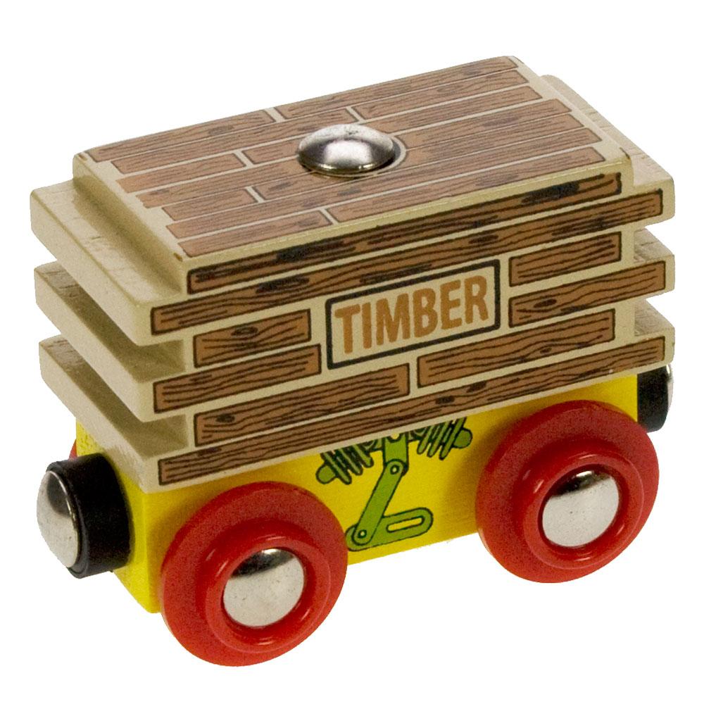 Vagon se dřevem
