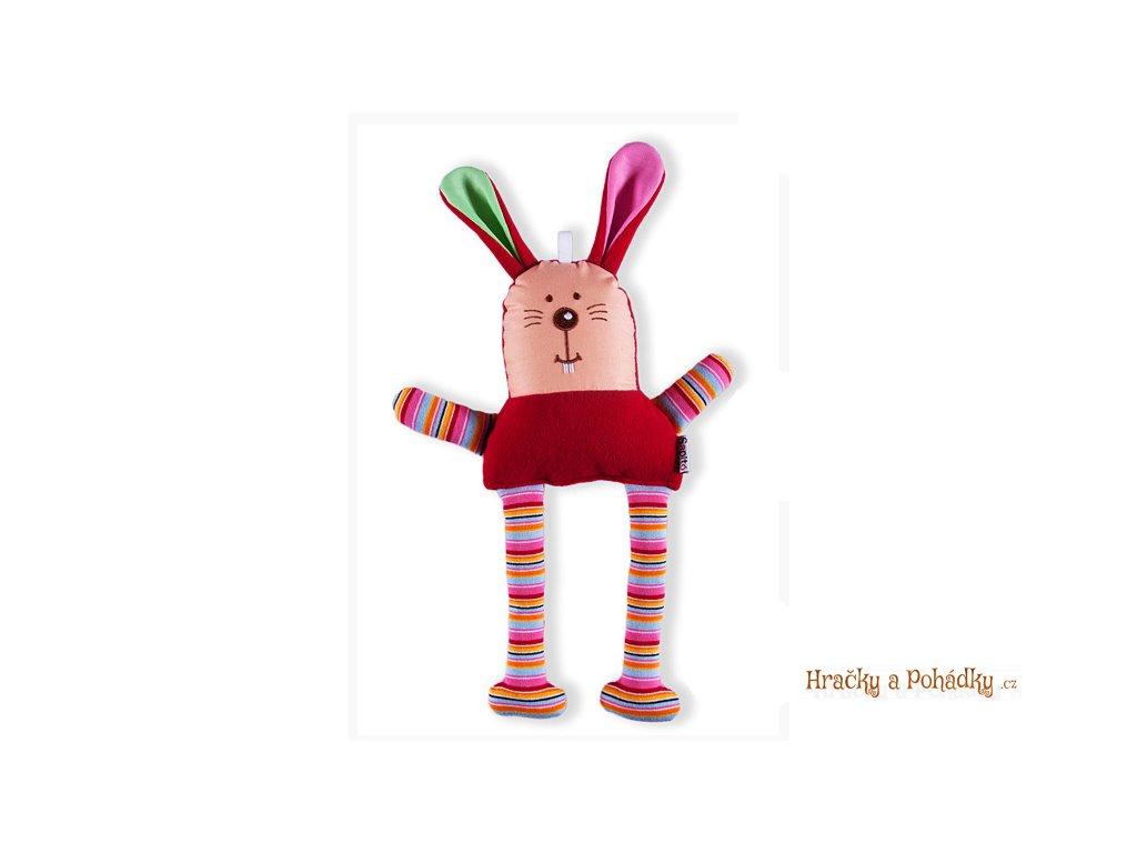 Látková hračka - červený zajíček