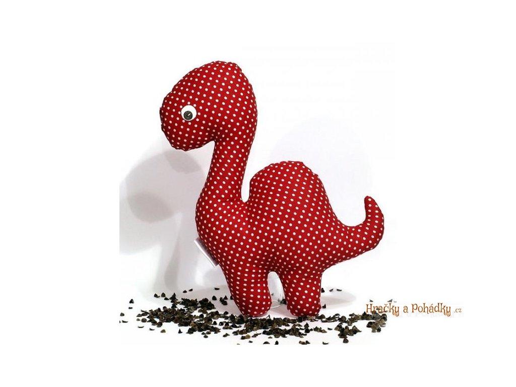 Látkový Dino pro nejmenší - červený