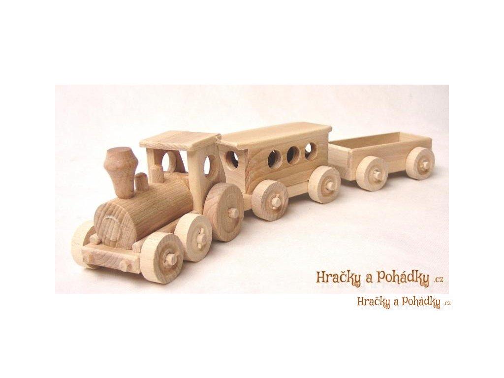 Dřevěný osobní vlak