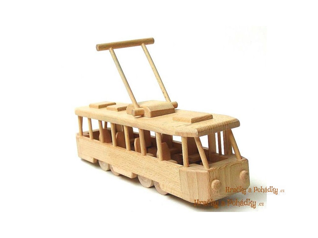 Dřevěná TRAMVAJ moderní