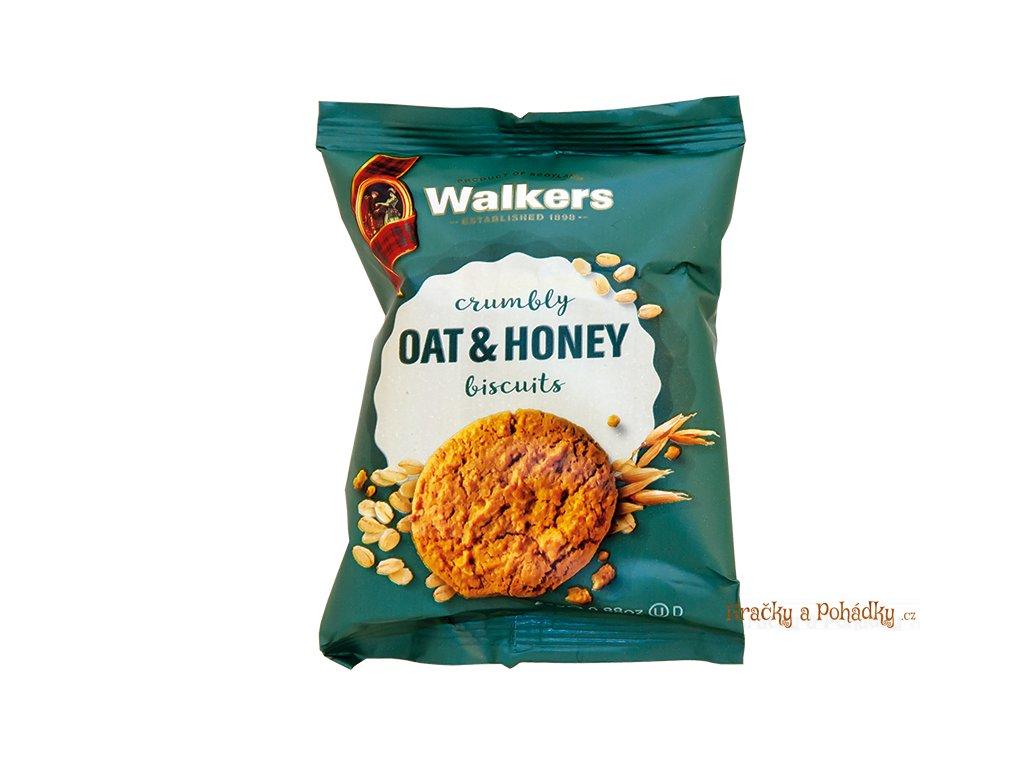 Walkers ovesné sušenky s medem 25g