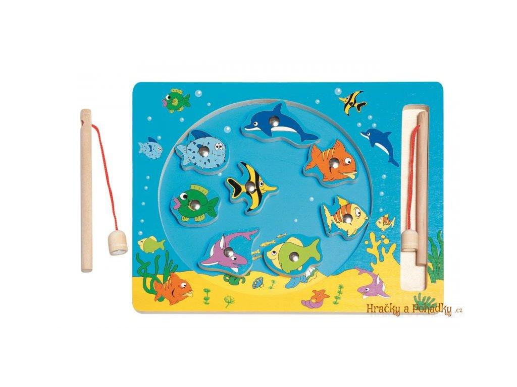 """Dřevěná magnetická hra """"rybolov"""""""