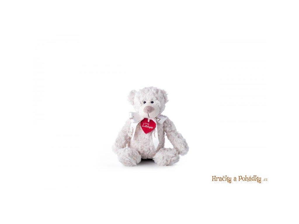 Plyšák medvěd Spencer bílý 26 cm