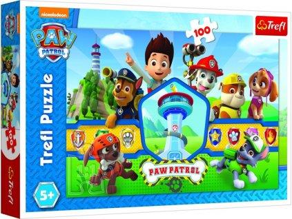 Tlapková patrola - Tým hrdinů: Puzzle 100 dílků